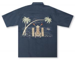Bamboo Cay King Tiki Hawaiian Shirt